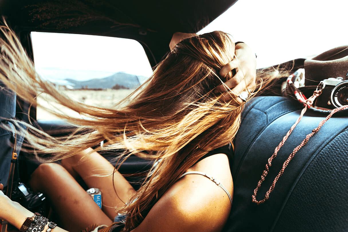 pexels woman hair wind car