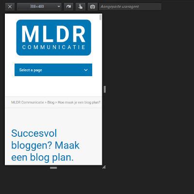 website mobiel bekijken op desktop