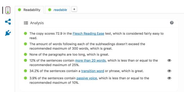 yoast readability check
