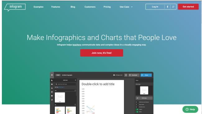 printscreen infogram infographic tool