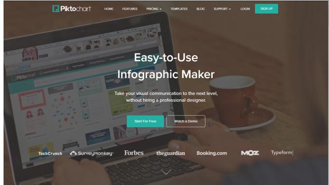 printscreen piktochart infographic tool