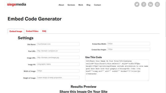 printscreen siege media embed code generator