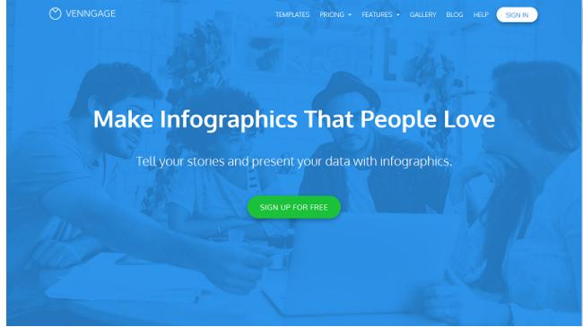 printscreen venngage infographic tool