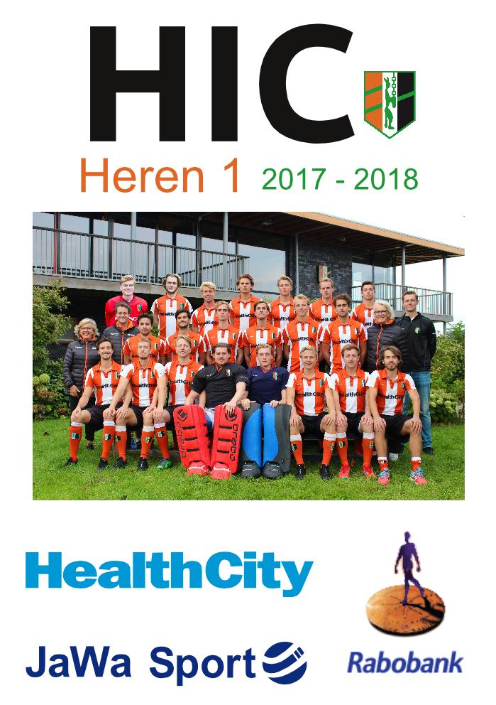 HIC programmaboek heren 1 2017 2018