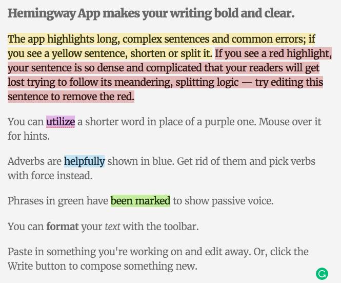 Beter Bloggen met Hemingway